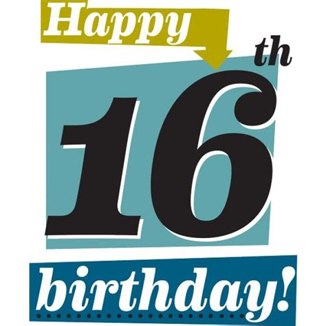 16 Year Boy Birthday Card 16th Birthday Images Cliparts Co