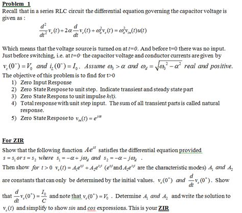 what are the laws governing capacitors in series recall that in a series rlc circuit the differenti chegg