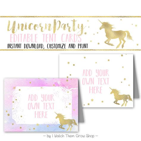 printable unicorn meat label editable printable unicorn party tent cards unicorn