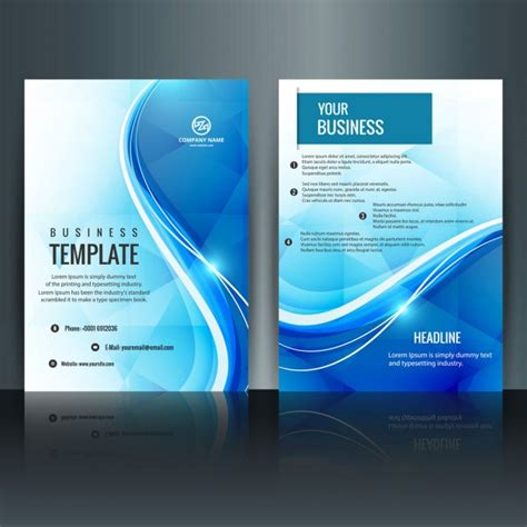 cover page template psd modern brochure template vector free