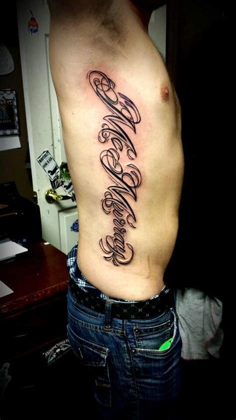 last name tattoo last name rib tattoos by alden