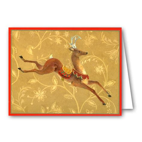 Cards Boxed - leaping deer boxed cards paperstyle