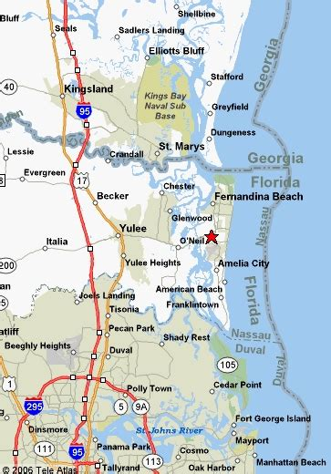 map of amelia island pictures to pin on pinsdaddy