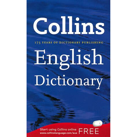 collins english dictionary english language books at the works