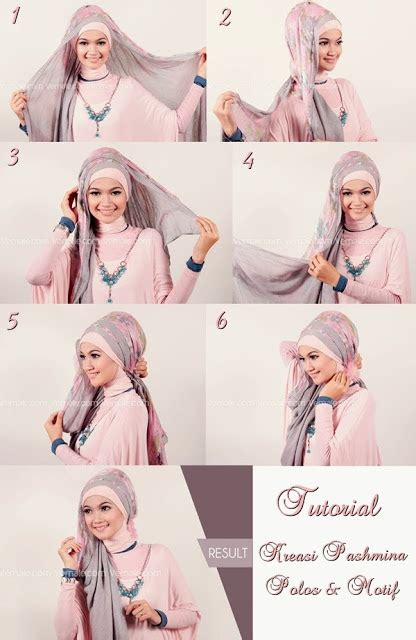 tutorial hijab simple pashmina sifon tutorial simple hijab pashmina sifon modern terbaru 2017