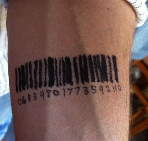 barcode tattoo temporary temporary barcode tattoo on forearm tattooshunt com