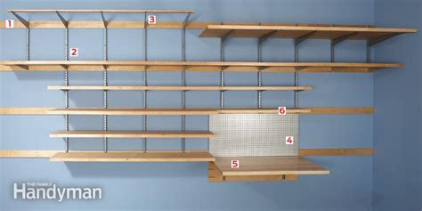 Garage Shelving Fixed To Wall Garage Wall Storage The Family Handyman