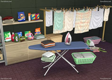 clutter sims 4 cc decor lana cc finds laundry decor set the sims 4 by dara