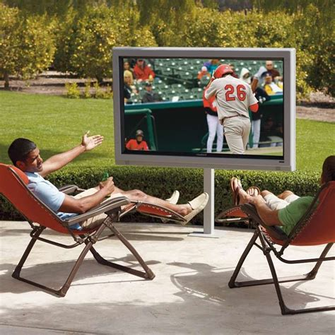 patio tv stand outdoor 65 quot lcd television outside