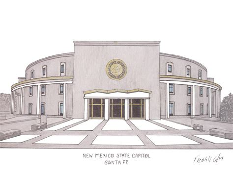 the new mexico state capitol building santa fe new new mexico state capitol drawing by frederic kohli