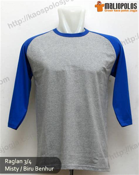 Kaos Polos Combed 20s Merah Tanpa Merek baru kaos polos raglan lengan 3 4 bahan cotton combed 20s