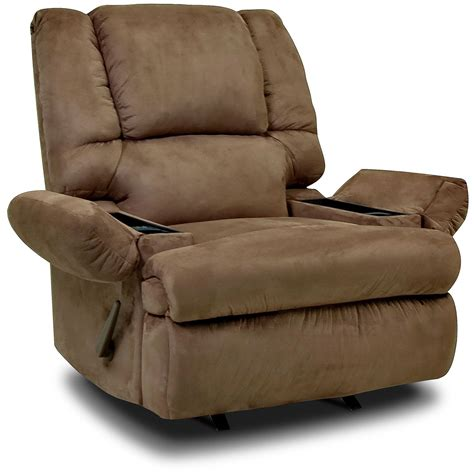 padded rocker recliner designed2b recliner 5598 padded suede rocker with storage