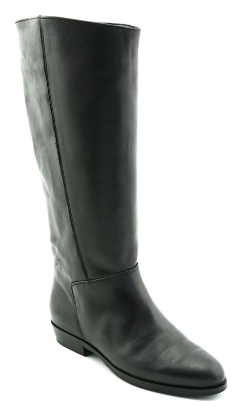 womens office fern pull on boot black leather boots ex