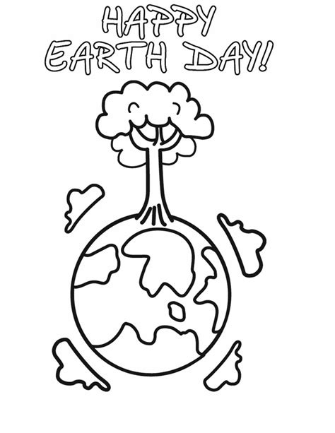 free coloring pages of earth day