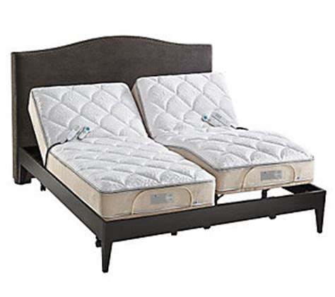 king size sleep number bed sleep number icon 10 split king adjustable bed set qvc com