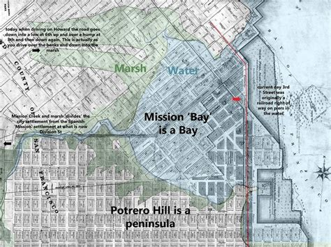 san francisco map mission bay mission bay bay