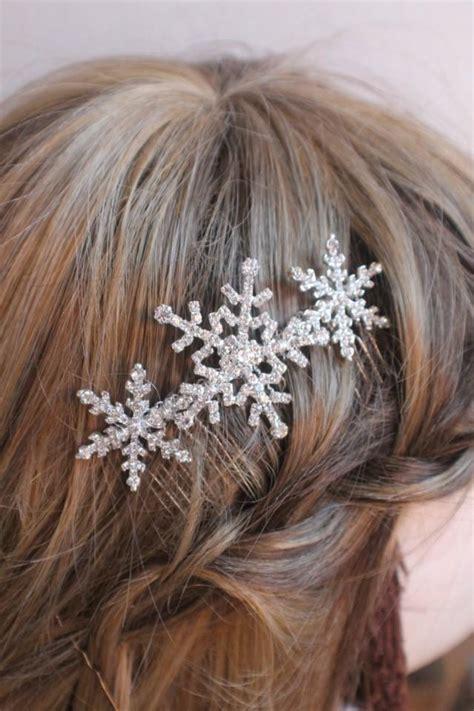 Hair Clip Hairpin Wedding Accessories Snowflakes Hiasan Rambut Pesta winter snowflake hair comb wedding hair comb bridal