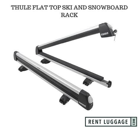 ski rack rental for rent thule flat top ski and snowboard rack
