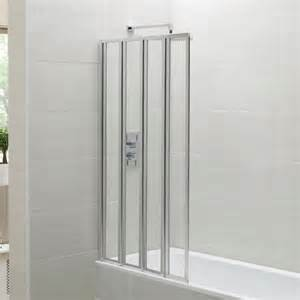 Small Shower Screens For Baths april identiti2 folding bath screen