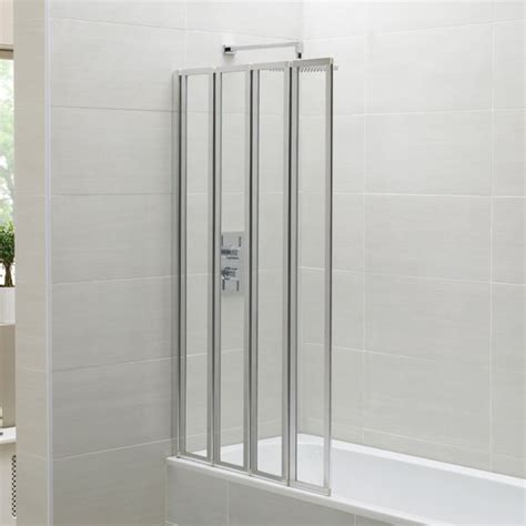 april identiti2 folding bath screen - Folding Shower Screens Bath