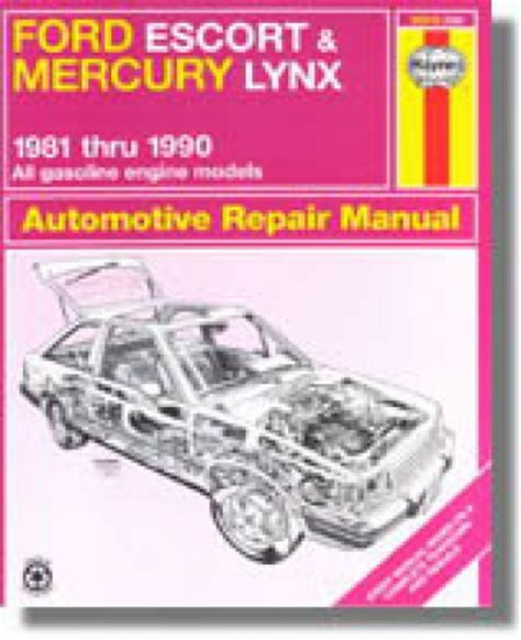 service manuals schematics 1990 ford escort seat position control haynes ford escort mercury lynx 1981 1990 auto repair manual