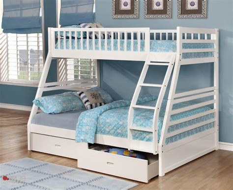 white bunk bed twin over full white twin over full bunk bed