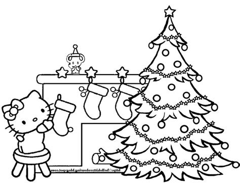 printable coloring pages hello kitty christmas hello kitty christmas coloring page free coloring pages