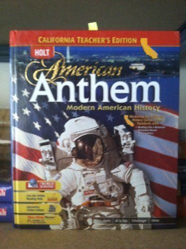 the need to work an american anthem books holt american anthem modern american history ca s