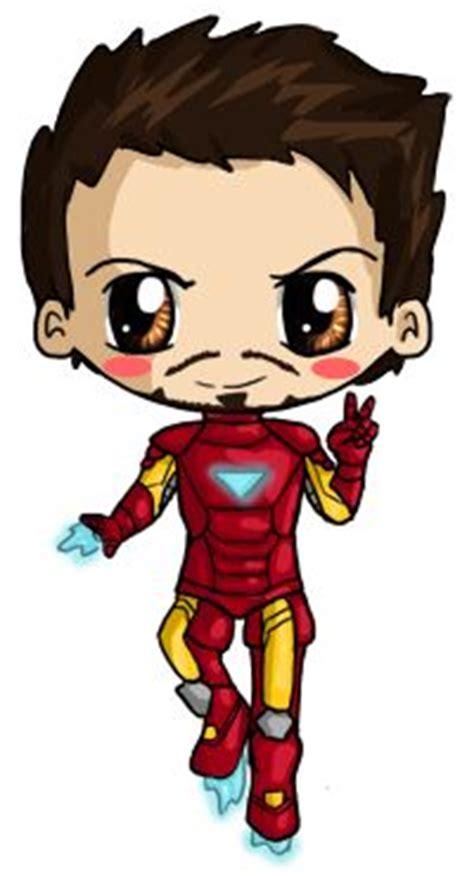 Figure Captain America Ironman Chibi iron kawaii and irons on
