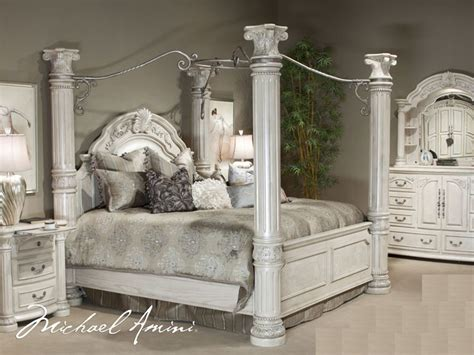 White Canopy King Bedroom Set by King Size Canopy Bedroom Sets Cal King Pc Canopy