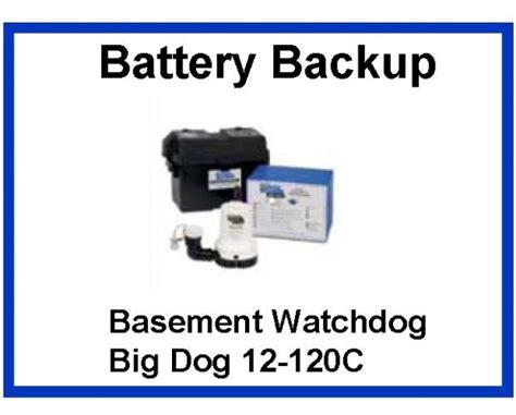 pumps selection battery backup sump construction review