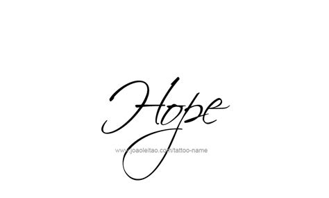 the word hope tattoo designs inspirational name designs tattoos with names