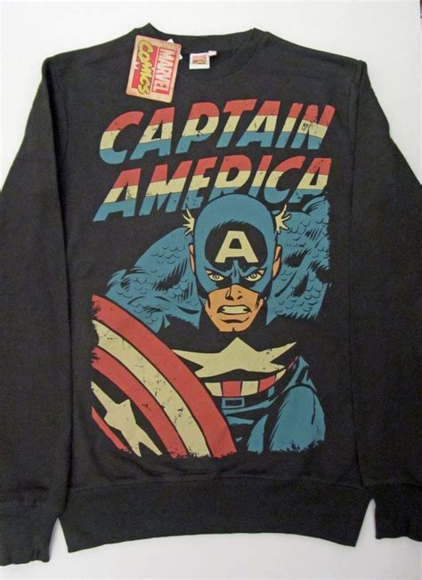 Sweater Iron Marvel Abu details about primark mens marvel captain america sweatshirt jumper bnwt various sizes more