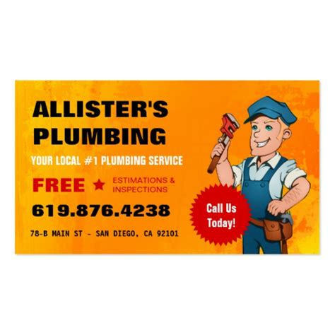 Plumbing Business Cards by Plumbing Business Card Zazzle