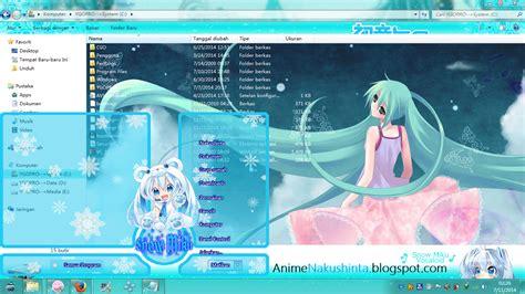 tutorial instal tema windows 7 cara instal tema windows 7 anime khusus windows 7 versi