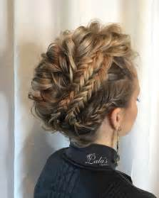 Amazing prom hairstyle for medium long hair braid updos