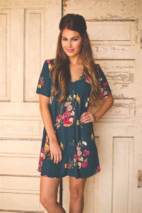 Dress Dotie Tunic dottie couture boutique emerald floral tunic dress 46 00 http www dottiecouture