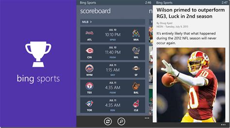 bing sports microsoft releases bing apps for windows phone liveside net
