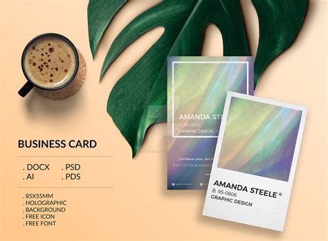holographic business card templates holographic business card template creative by