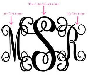 initial monograms what is a wedding monogram the yes