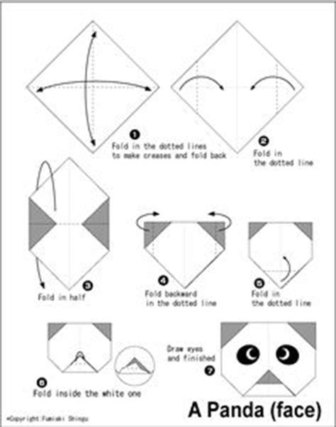 How To Make A Paper Panda - 1000 images about origami on pandas easy