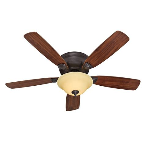 Low Profile Ceiling Fan With Light Low Profile Plus 52 In Indoor New Bronze Ceiling Fan With Light Kit 27303 The Home Depot