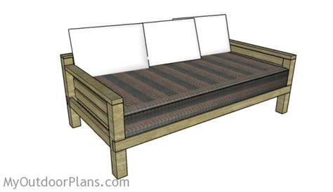diy daybed plans myoutdoorplans  woodworking plans
