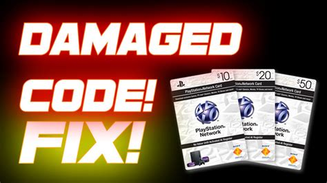 Ripped Kode 401 how to fix damaged code on psn card