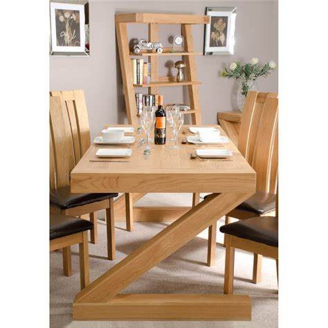 z solid oak designer furniture large dining table