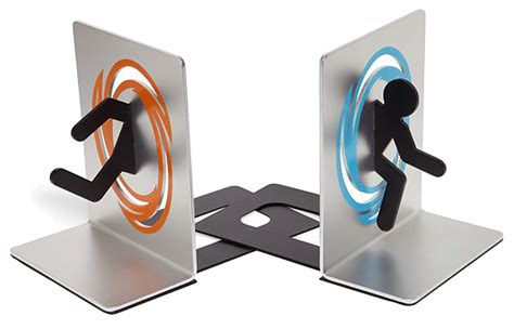 be right back bookend aluminum portal bookends