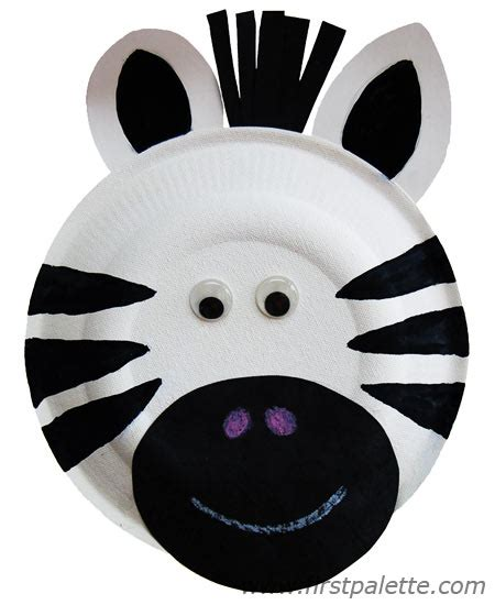 Paper Plate Animal Craft - paper plate animals craft crafts firstpalette