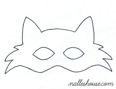 Fox Mask Template fox mask template sewing projects mask