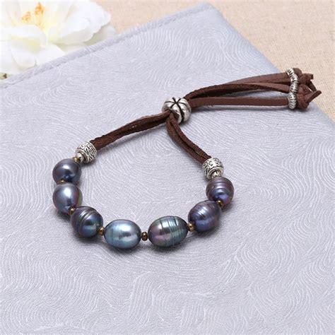 Handmade Pearl Necklaces - aoebi pearl handmade pearl suede jewelry set pearl