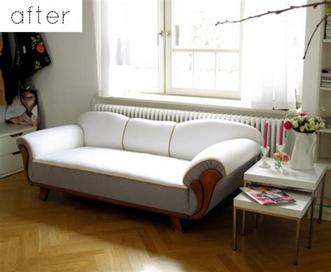 Sofa Makeover by Before After Modern Two Tone Sofa Chair Makeovers